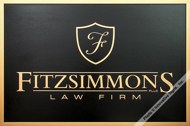 Fitzsimmons_Plaque_DuraBronze™_Law_Sign