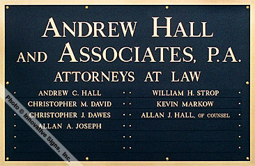 Hall_Plaque_DuraBronze™_Law_Sign