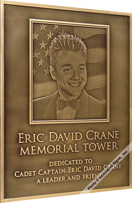 Crane Left_Engraved_Bronze_Memorial_Plaque